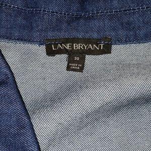 Lane Bryant Jackets & Coats - Lane Bryant eyelet lace trim denim jacket